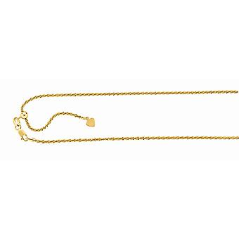 925 Sterling sølv gull-blinket finish 1,5 mm Sparkle-cut justerbar Sparkle Chain hummer låsen anklet