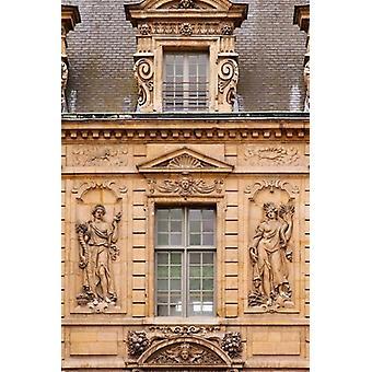 Hotel de Sully i Les Marais Poster trykk av Brian Jannsen