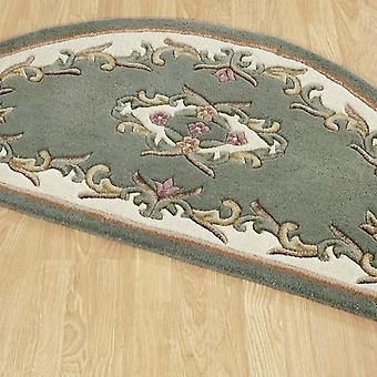 Royal Aubusson Half Moon Rugs In Green Cream