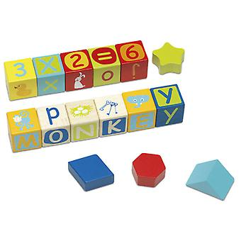 Cayro Construction Cubes Letters And Numbers (Toys , Preschool , Babies , Stackable Toys)