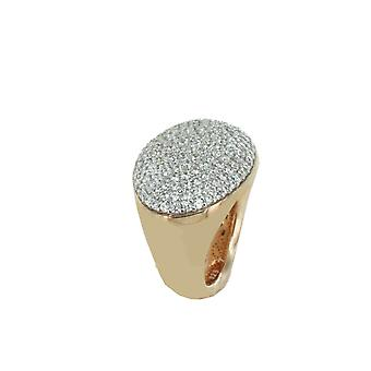 ESPRIT collection ladies ring silver Rosé cubic zirconia Periboa Gr. 17 ELRG92233B170