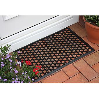 Coco Tough Black Rubber Hollow Doormat 005 40cm x 60cm