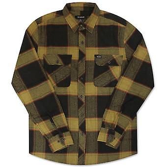 Brixton Bowery Flannel L/S Shirt Black Gold