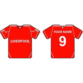 Personalised Liverpool Football Shirt Car Air Freshener