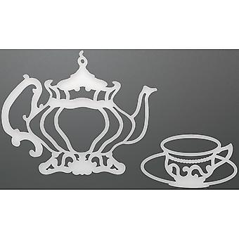 Couture Creations Enchanted Tea Party Die-Tea Set 1.9