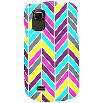 Unlimited Cellular Snap-On Case for ZTE Prelude/Avail 2 Z992 (Blue/Pink/Yellow C