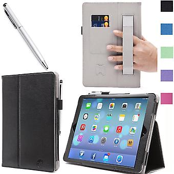 iPad Mini met Retina Display Case, i-Blason, iPad Mini lederen Case met Bonus Stylus-zwart