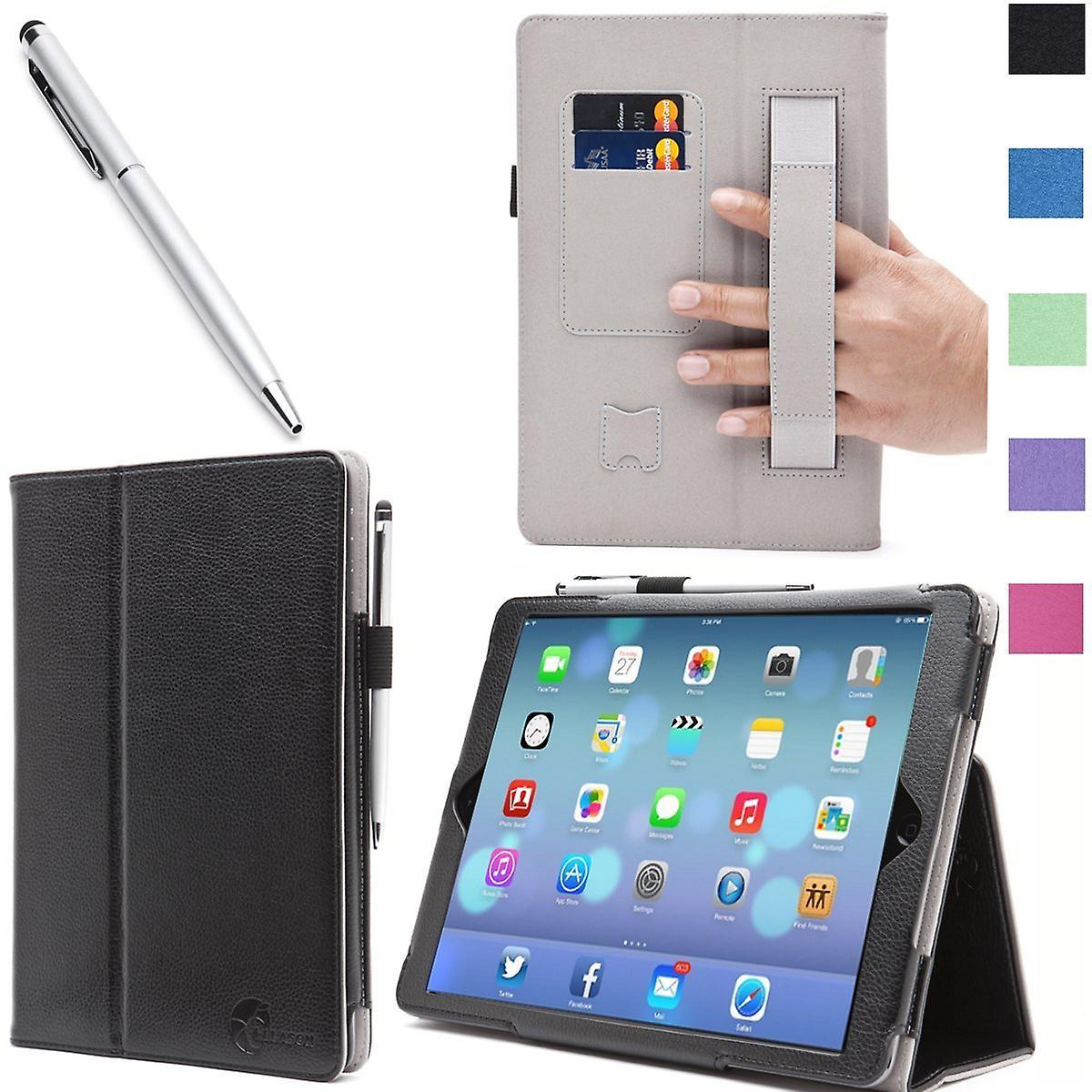 iPad Mini with Retina Display Case, i-Blason, iPad Mini Leather Case with Bonus Stylus-Black