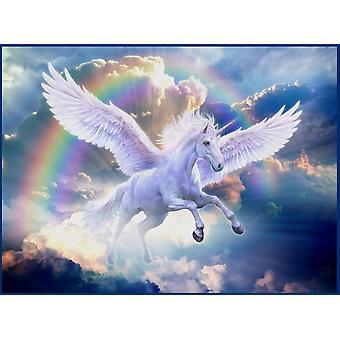 Regenbogen-Pegasus-Plakat-Druck von Jan-Patrick