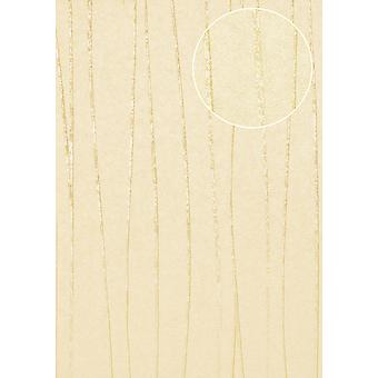 COL-566-4 non-woven wallpaper smooth lustrous design stripes wallpaper Atlas light ivory cream agate grey 5.33 m2