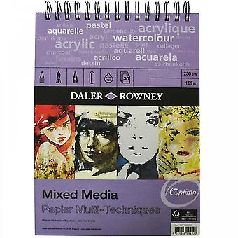 Daler Rowney Mixed Media Spiral Pad - A3