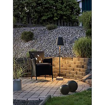 Konstsmide Lucca Black Outdoor Floor Lamp