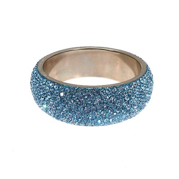 W.A.T Chunky Crystal Bangle Pale Blue Crystals