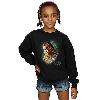 Star Wars Girls The Last Jedi Chewbacca Brushed Sweatshirt