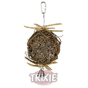 Trixie Natural Living Wicker Ball with Bell 22 Cm. (Birds , Bird Cage Accessories , Toys)