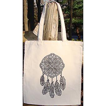 Stamped Canvas Tote To Color-Dreamcatcher 98114T