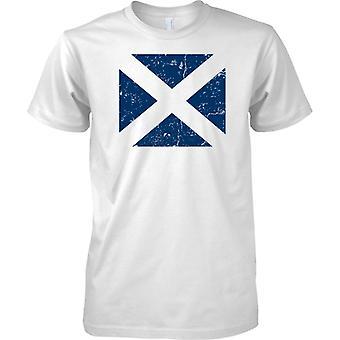 Saltire escoc agobiados Grunge efecto bandera diseño - para hombre T Shirt