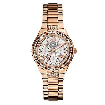 Guess ladies watch W0111L3 Rosé gold watch