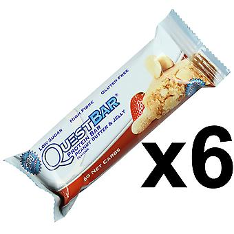 Quest Nutrition Peanut Butter & Jelly Protein Bar Individual 6 x 60g Bars