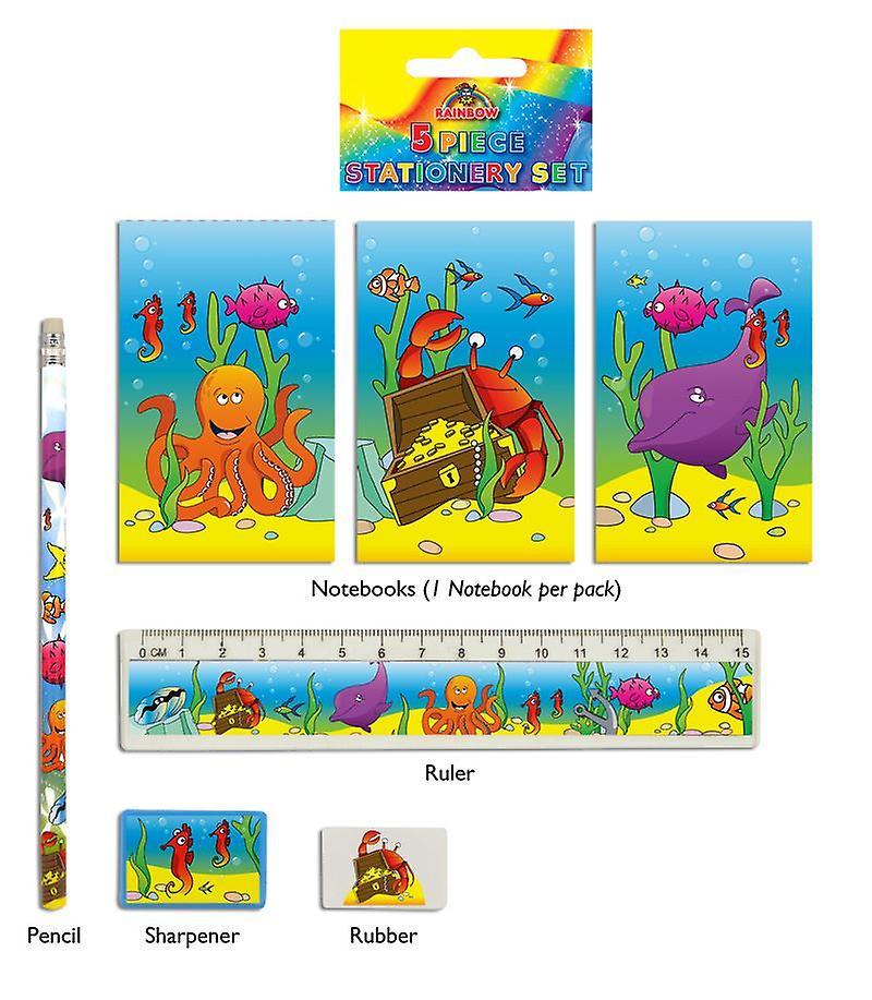 24 Sealife 5-Piece Stationery Sets