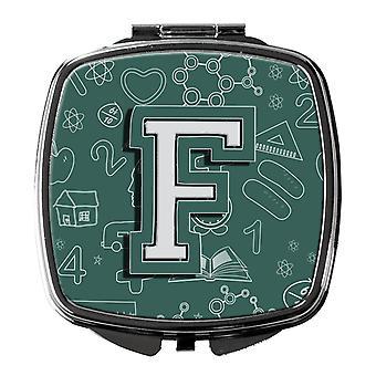 Carolines Treasures  CJ2010-FSCM Letter F Back to School Initial Compact Mirror