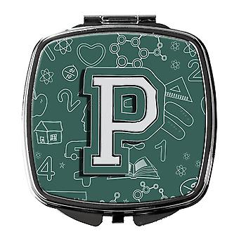 Carolines Treasures  CJ2010-PSCM Letter P Back to School Initial Compact Mirror