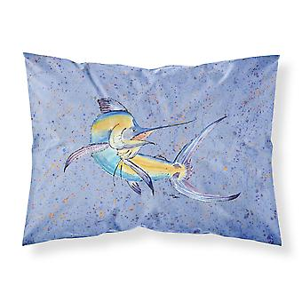 Carolines Treasures  8350PILLOWCASE Blue Marlin Moisture wicking Fabric standard