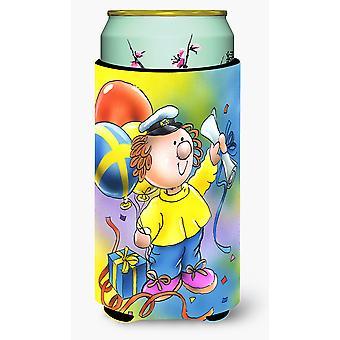 Abschluss Diplom großer Junge Getränk Isolator Hugger