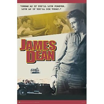 James Dean Poster Poster Print