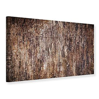 Leinwand drucken Retro-Holz