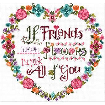 Flower Friends Counted Cross Stitch Kit-8.75