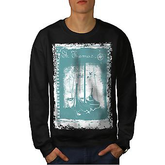 St. Thomas Ship mannen BlackSweatshirt | Wellcoda