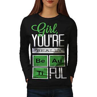 Beautiful Chemistry Geek Women BlackLong Sleeve T-shirt | Wellcoda