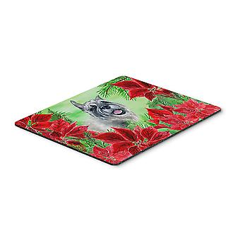 Carolines Treasures  CK1310MP Schnauzer Poinsettas Mouse Pad, Hot Pad or Trivet
