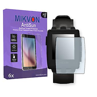 Pebble Steel Screen Protector - Mikvon AntiSun (Retail Package with accessories)