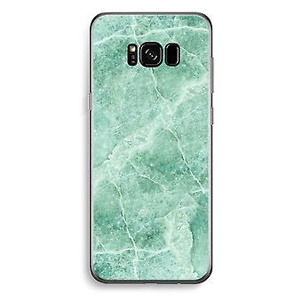 Samsung Galaxy S8 Transparent Case - Green marble