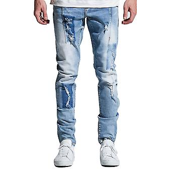 Verfraaien van NYC Paul Denim Jeans licht blauwe Patch