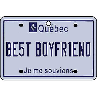 QUEBEC - Best Boyfriend License Plate Car Air Freshener