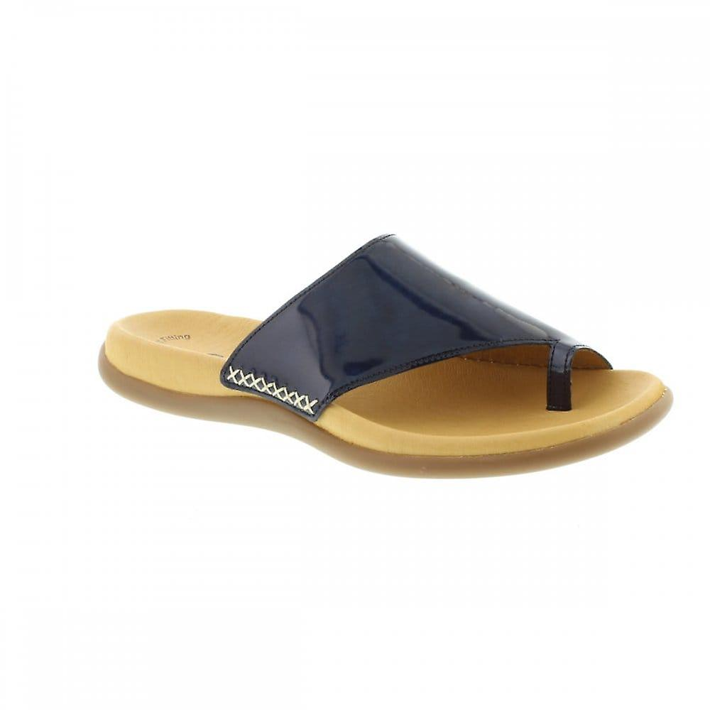 Gabor Lanzarote 700 - Navy Patent 96 (Leather) Womens Sandals Various