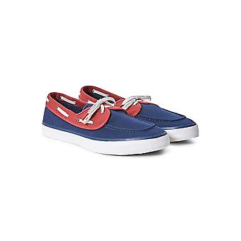 Sperry toile Casual 2 Eye Boat Shoe marine & rouge