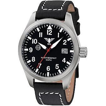 KHS horloges mens watch Airleader staal KHS. VOOR HET EERST UITGEZONDEN. LBB