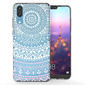 Huawei P20 Mandala TPU Gel Case - White