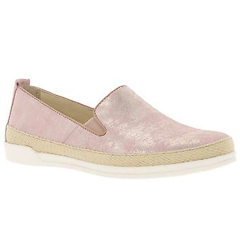 CAPRICE leather loafers women's shoes pink