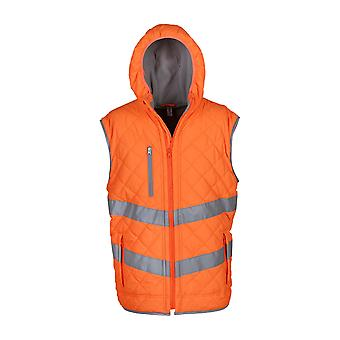 Yoko Unisex Adults Hi Vis Kensington Hooded Gilet