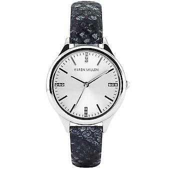 Karen Millen watch ladies silver