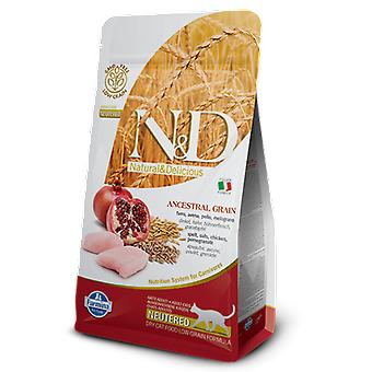 Farmina N&D Low Ancestral Grain Neutered Cat Chicken and Pomegranate
