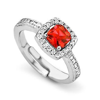 Orphelia Silver 925 Ring Princess  Zirconium  Red  ZR-7199/RE