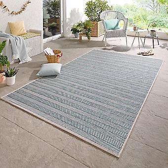 Design Outdoorteppich Caribien azure