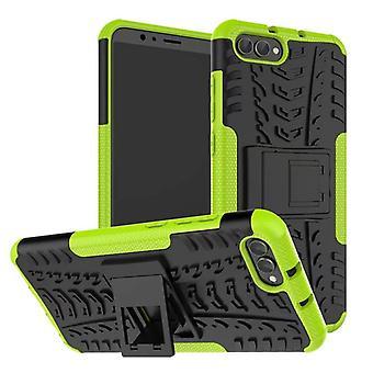 Pedaço de caso 2 híbrido verde ao ar livre de SWL para Huawei honra ver os 10 / manga V10 bolso capa de proteção