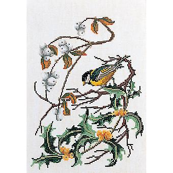 Great Tit On Aida Counted Cross Stitch Kit-9.75